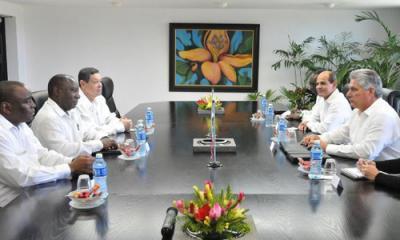 Sostuvo Díaz-Canel encuentro con el Vicepresidente de Sudáfrica