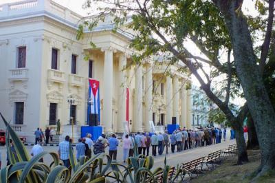 Estela de Fidel en Santa Clara